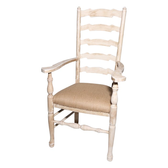 French Country Deconstructed Arm Chair - Image 1 of 3