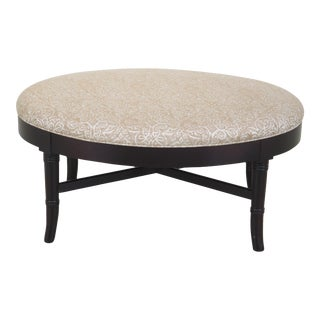 Hickory Chair Co. Oval Bamboo Style Lane Ottoman