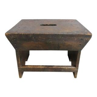 Antique Primitive Kitchen Stool