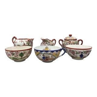 Kutani Satsuma Eggshell Geisha Tea Set For Sale