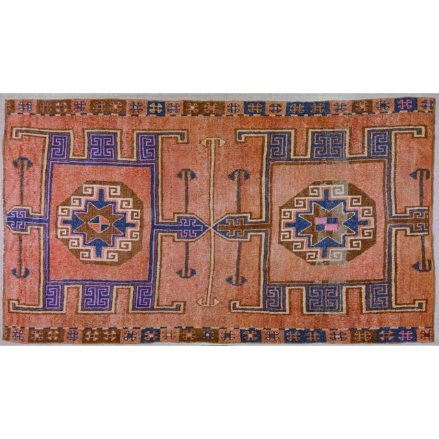 "Textile Vintage Kurdish Rug,5'6""x9'7"" For Sale - Image 7 of 7"
