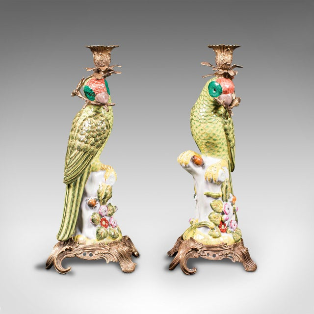 1980s Ceramic Oriental Decorative Candlesticks - a Pair For Sale - Image 13 of 13