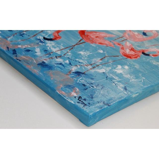 """Flamboyance"" Flamingo Painting by Celeste Plowden - Image 2 of 2"