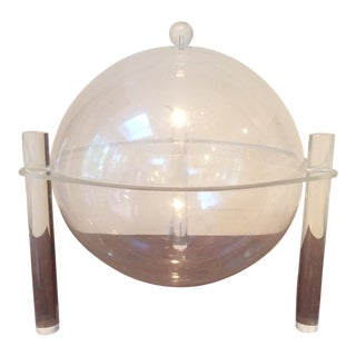 Mid-Century Lucite Covered Bowl For Sale