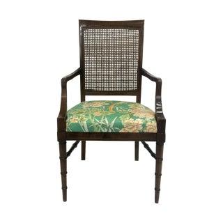 Faux-Bamboo Arm Chair