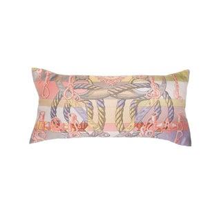 """""""Della Cavalleria"""" Hermès Silk Scarf Pillow For Sale"""