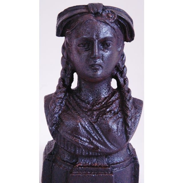 19th Century French Iron Lady Bust Fragment - Image 7 of 9