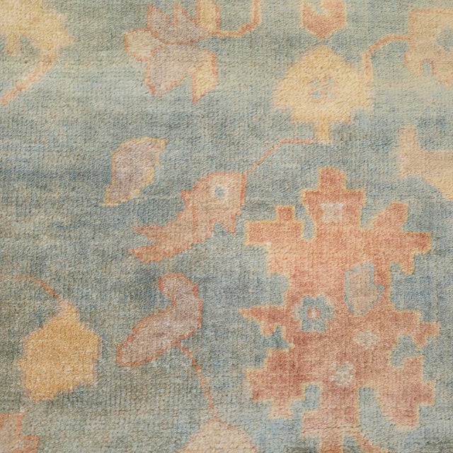 """1990s Mansour Quality Handwoven Oushak Rug - 8'2"""" X 9'10"""" For Sale - Image 5 of 7"""
