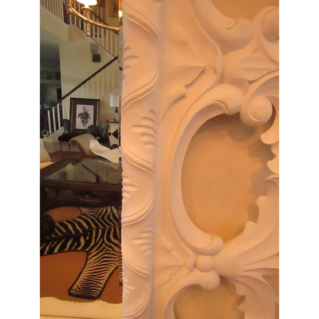 White Modern Christopher Guy Elaborately Carved Wood Framed Mirror For Sale - Image 8 of 10