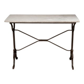 19th Century French Marble-Top Garden Table For Sale