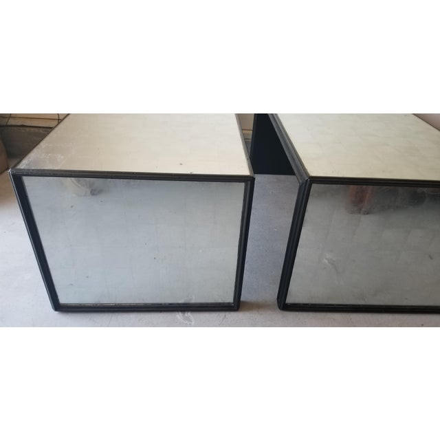 Contemporary Contemporary Mirrored Waterfall Coffee Table - 2 Available For Sale - Image 3 of 7