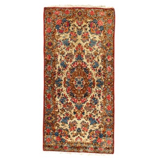 1920s Antique Persian Kerman Rug - 2′4″ × 4′2″ For Sale