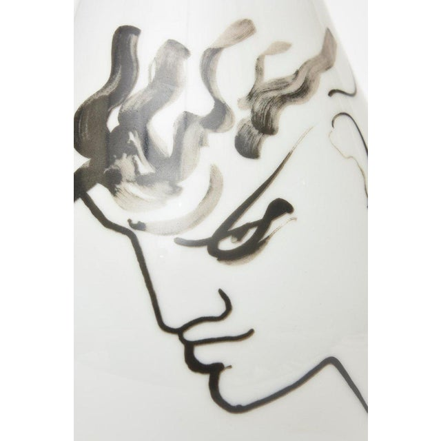 Jean Cocteau for Rosenthal Tetes Face Porcelain Hand Painted Vase / Vessel For Sale - Image 10 of 11