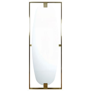 Modern History Brass Paolo Floor Mirror For Sale