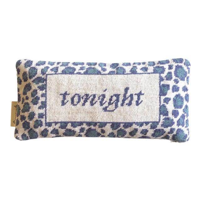 Needlepoint Tonight/Not Tonight Pillow For Sale