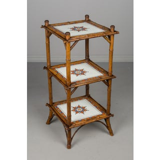 19th Century French Bamboo and Tile Etagere Preview