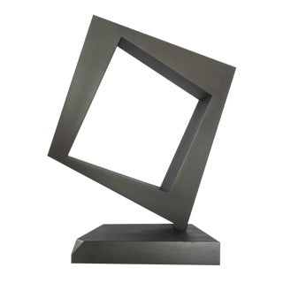 "Contemporary Abstract Iron Sculpture ""ODDS"" by Oscar Lisica For Sale"
