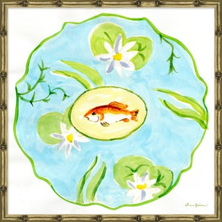 """""""Lily Pad in Turquoise"""" By Dana Gibson, Framed Art Print For Sale"""