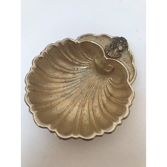 Vintage Footed Brass Shell Catch All Bowl - Image 2 of 7