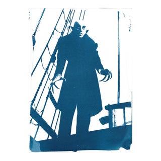 Nosferatu Vampire Film Still Cyanotype on Watercolor Paper For Sale