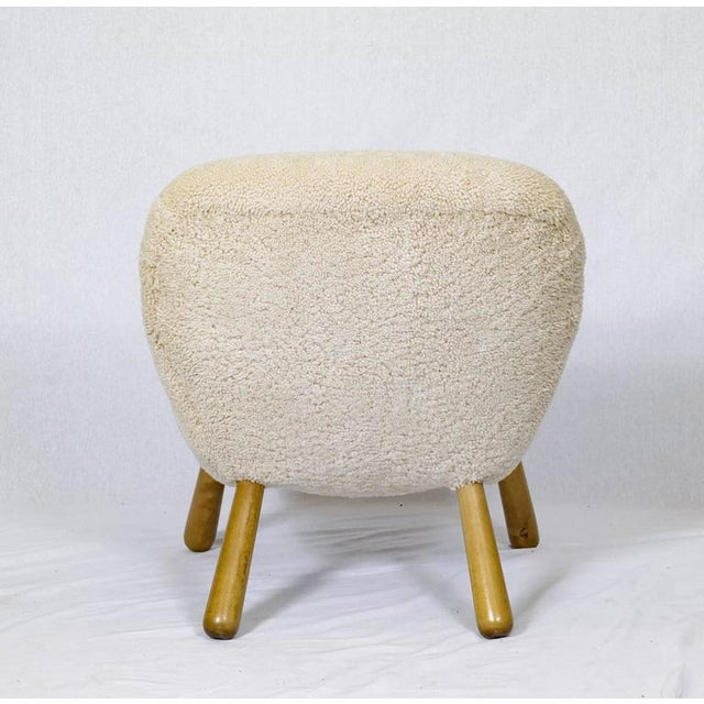 """Animal Skin Philip Arctander """"Clam"""" Chair For Sale - Image 7 of 10"""