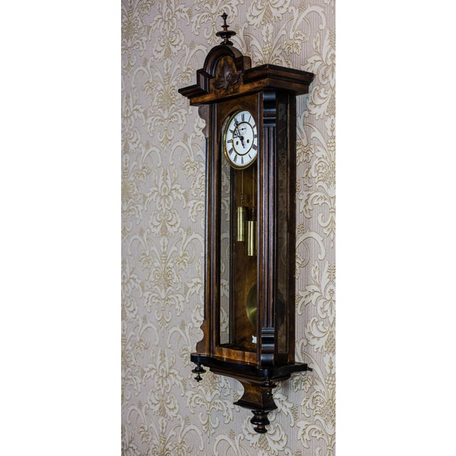 19th-Century Wall Clock For Sale - Image 4 of 13