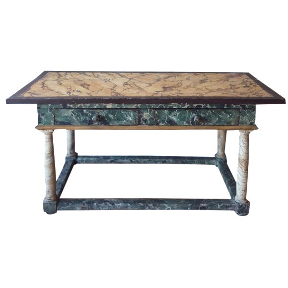 Painted Italian Antique Table For Sale