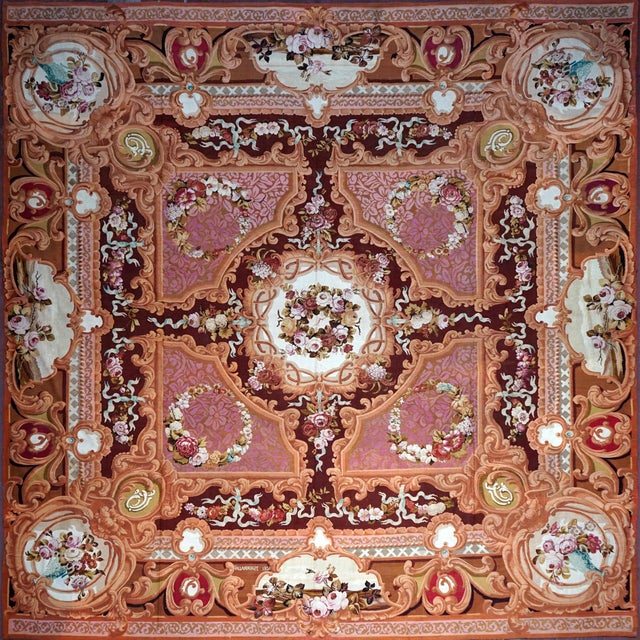 1851 Handwoven Antique Sallandrouze Aubusson Rug, Exceptional Condition & Signed For Sale - Image 9 of 9