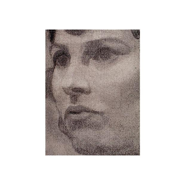 Mid-Century Portrait Drawing of a Woman - Image 3 of 4