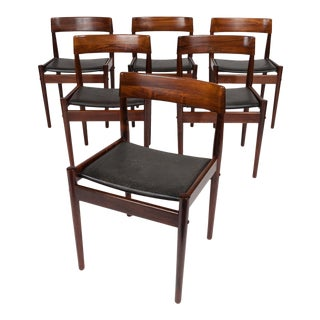 Vintage Grete Jalk Danish Mid-Century Rosewood Dining Chairs (Set of 6) For Sale