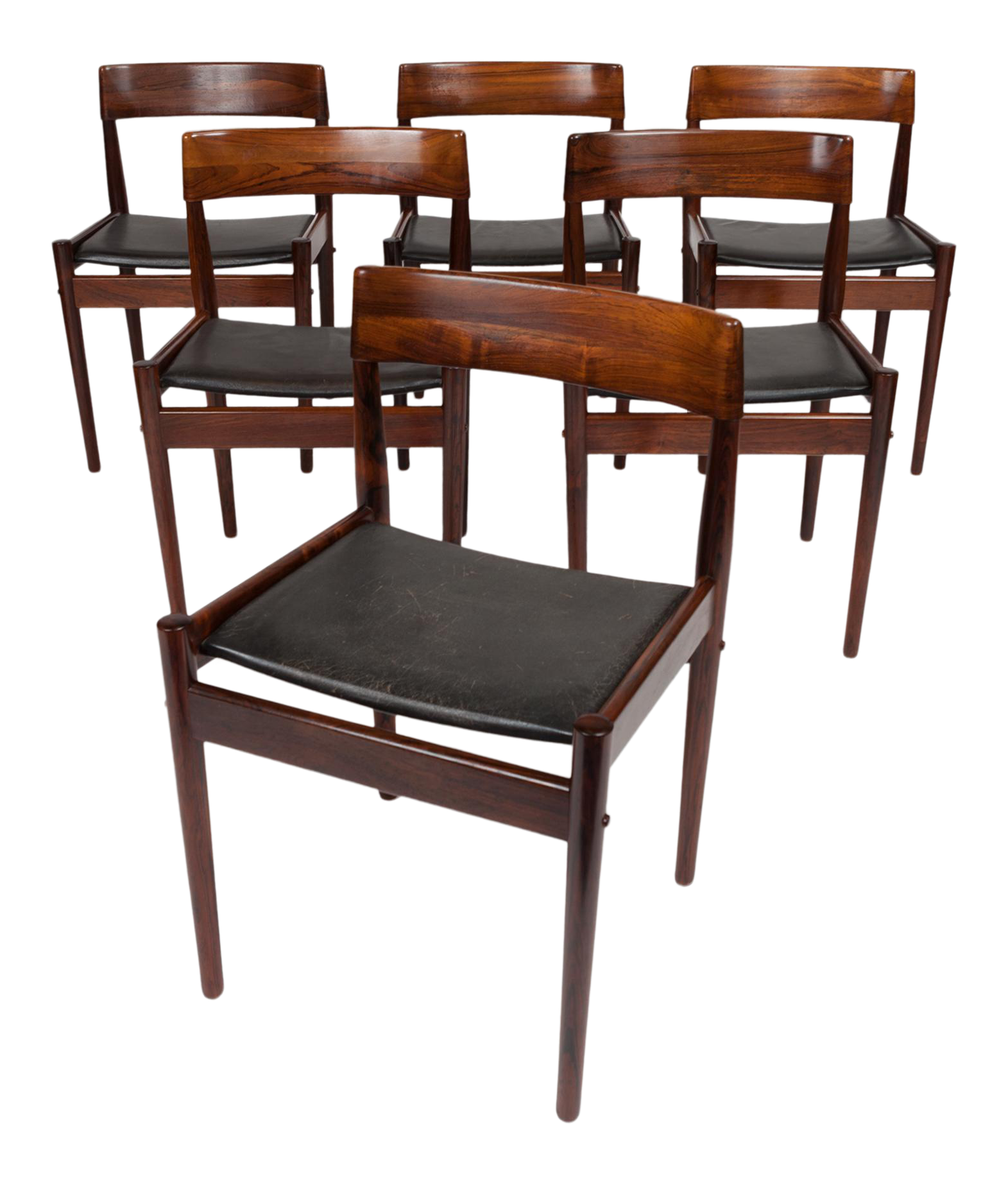 Vintage Grete Jalk Danish Mid Century Rosewood Dining Chairs (Set Of 6) For