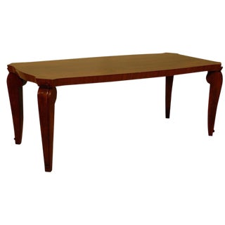 1940s Designer Wood Coffee Table Designed by André Arbus For Sale