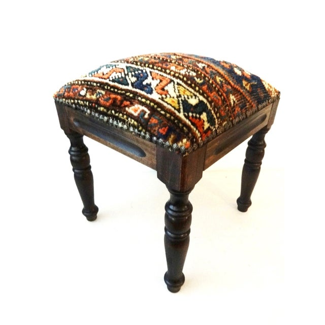 Antique Tribal Qashqa'i Fragment Stool For Sale - Image 5 of 9