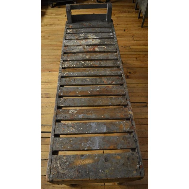 19th C. Wood Bench with Painted-Splatered Slats - Image 2 of 4