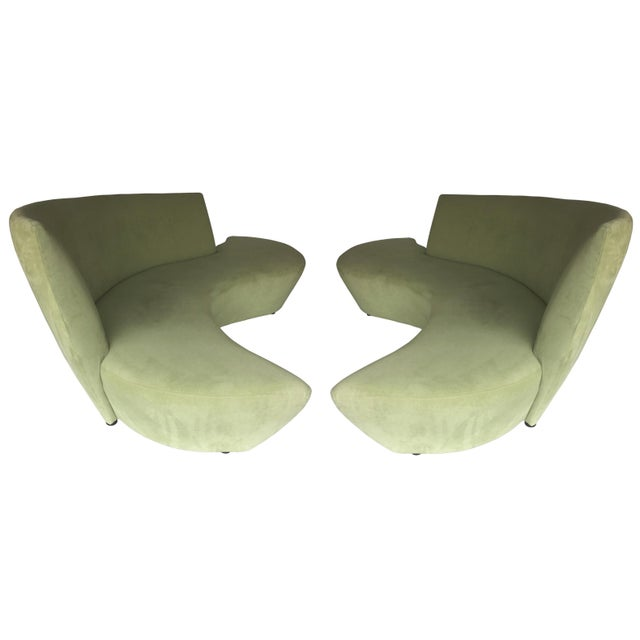 Remarkable Rare Bookmatched Pair Of Bilbao Sofas By Vladimir Kagan Customarchery Wood Chair Design Ideas Customarcherynet