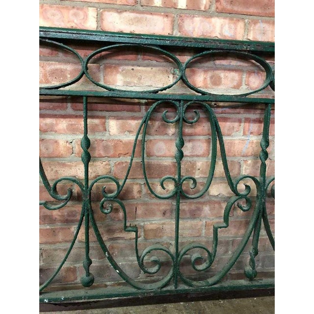 Late 19th Century Decorative Wrought Iron Balustrade/Railing For Sale - Image 4 of 8