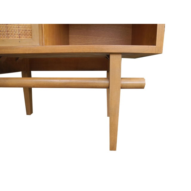 Tan 1950's Mid-Century Modern Single Maple Nightstand For Sale - Image 8 of 9