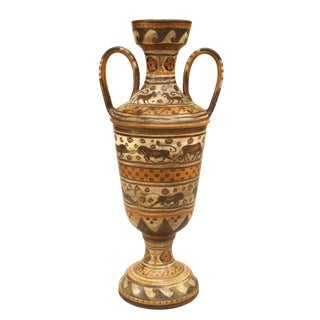 1940s Grecian Etruscan Style Earthenware Urn For Sale