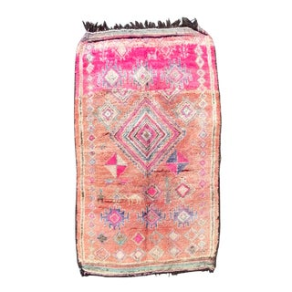 Moroccan Boujaad Pink Rug For Sale