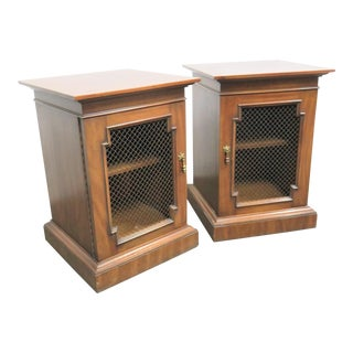 Regency Heritage Fruitwood Nightstands - a Pair For Sale