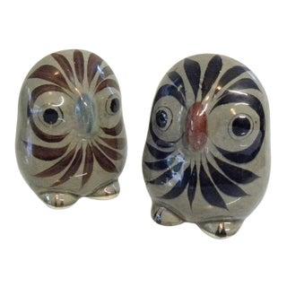 Vintage Mid Century Owl Figurines - a Pair For Sale
