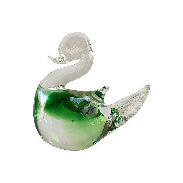 Vintage Murano Handblown Swans - Set of 2 For Sale - Image 5 of 6