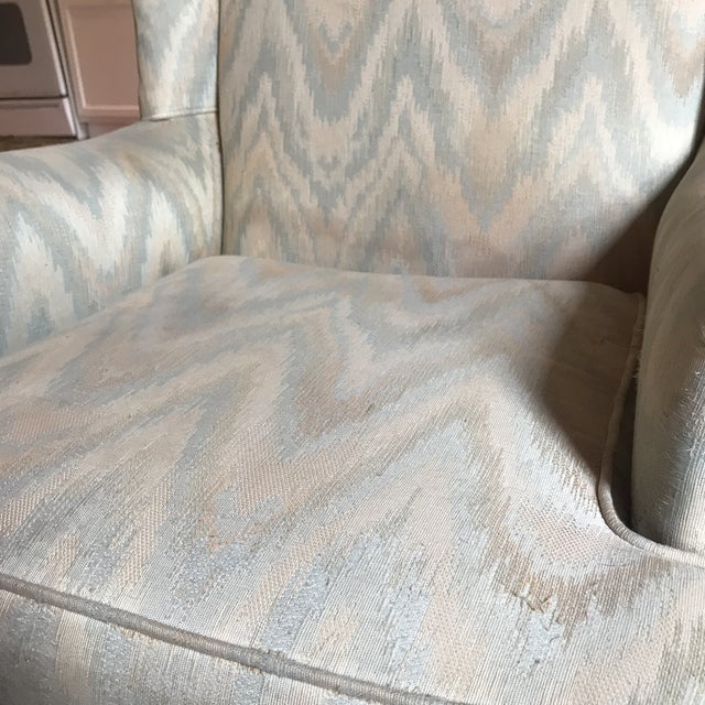 Tan 1980s Vintage Houston House Flame Stitch Wingback Chairs - A Pair For Sale - Image 8 of 9