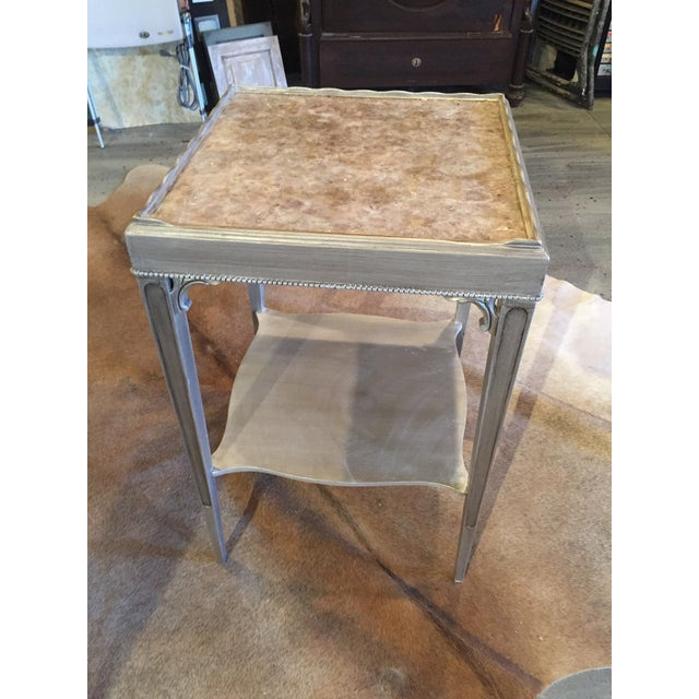 Transitional Mica Top Accent Table - Image 4 of 4