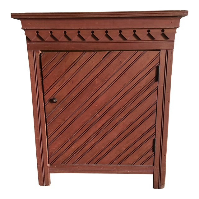 Antique Painted Cupboard - Image 1 of 4