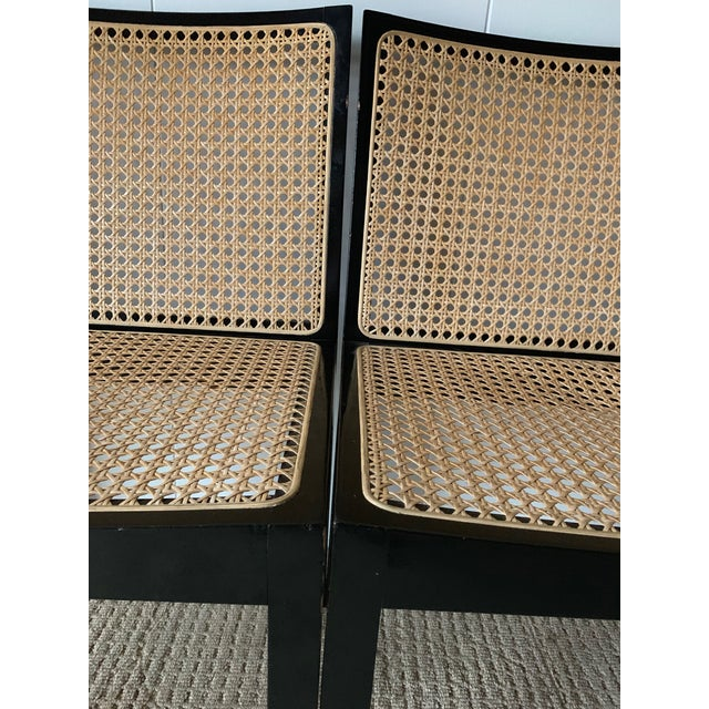 Stendig Willy Guhl Stendig Black Lacquer Dining Chairs - Set of 4 For Sale - Image 4 of 9