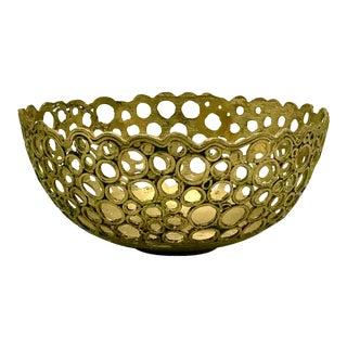 Vintage Brutalist Brass Bowl