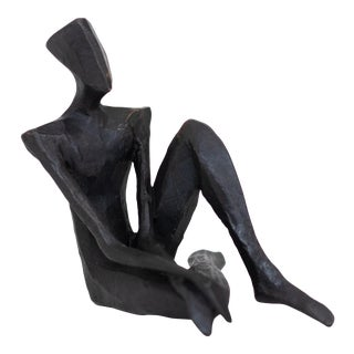 ''Jaxson'' Contemporary Abstract Figurative Bronze Sculpture by Nando Kallweit For Sale