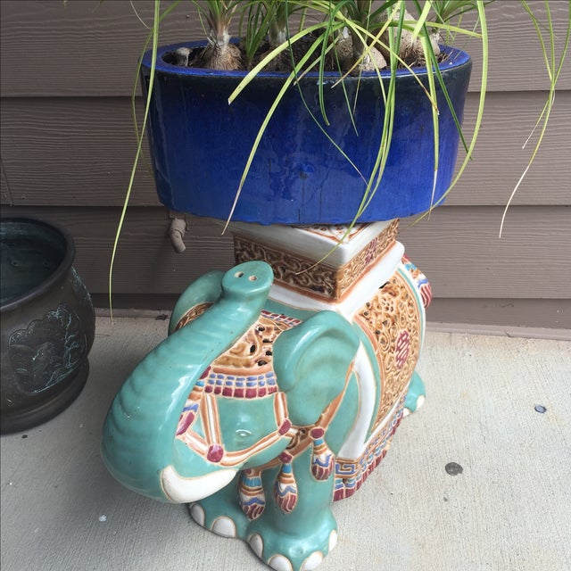 Chinoiserie Elephant Garden Stool For Sale In Atlanta - Image 6 of 8