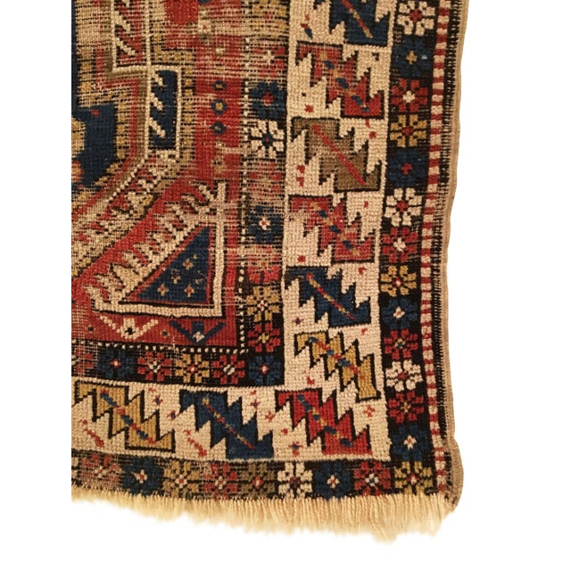 Tribal Late 19th Century Antique Caucasian Shirvan Distressed Small Rug 3'4 X 4'6 For Sale - Image 3 of 4